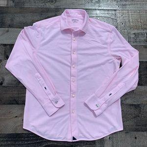 UNTUCKit Mens Long Sleeve Button Up Shirt Pink